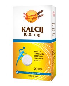 NW Kalcij 1000 mg 20 šumećih tableta
