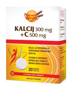 NW Kalcij 300 mg + C-500 20 šumećih tableta