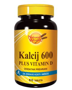 NW Kalcij citrat 600 mg + vitamin D 60 tableta