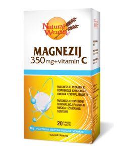 NW Magnezij 350 mg + vitamin C 20 šumećih tableta