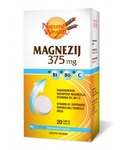 NW Magnezij 375 mg + B1 + B6 + C 20 šumećih tableta