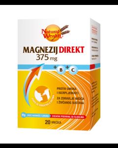Magnezij Direkt 375 mg + B + C 20 vrećica
