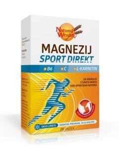 NW Magnezij Sport Direkt + B6 + C + L-karnitin 20 vrećica