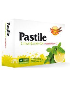 NW Pastile za grlo limun & mentol s vitaminom C 24 pastile